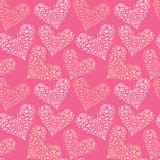 Seamless pattern with ornamental floral heart, Happy Valentine`s Royalty Free Stock Photos