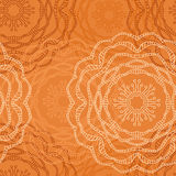 Seamless pattern with ornamental flowers in beautiful caramel colors. Vector illustration Royalty Free Stock Images