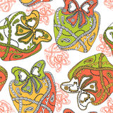 Seamless pattern with ornamental gifts. Royalty Free Stock Photo