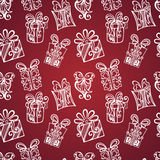 Seamless Pattern with Ornamental Holiday Gifts Royalty Free Stock Photography