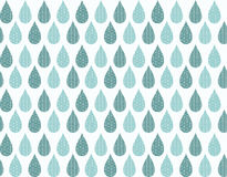 Seamless pattern with ornamental rain drops and line drawings Royalty Free Stock Images