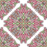 Seamless pattern with ornamental rectangles Stock Photo