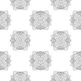 Seamless pattern with ornamental round lace pattern Royalty Free Stock Image