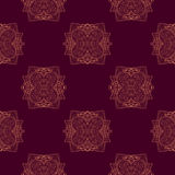 Seamless pattern with ornamental round lace pattern, can be used for wallpaper, pattern fills, ornate web page background Royalty Free Stock Image
