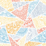 Seamless pattern -  ornamental triangles. Pastel background Stock Images