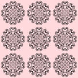 Seamless pattern with ornaments Stock Photo