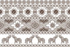 Seamless pattern with ornaments Royalty Free Stock Image