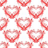 Seamless pattern ornate floral hearts Stock Images