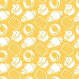 Seamless pattern outline delicious pastries, Royalty Free Stock Photo