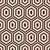 Seamless pattern with outline diamonds. Turtle shell motif. Honeycomb wallpaper. Repeated rhombuses and lozenges figures. Abstract background. Classic geometric Stock Photo