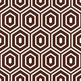 Seamless pattern with outline diamonds. Turtle shell motif. Honeycomb wallpaper. Repeated rhombuses and lozenges figures Stock Photography