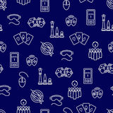 Seamless pattern with outline game accessories Royalty Free Stock Photo