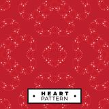 Seamless pattern outline heart made from small hearts valentines Stock Images