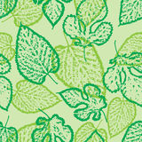 Seamless pattern outline of the leaves Royalty Free Stock Photos