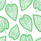 Seamless pattern outline of the leaves Stock Photography