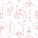 Seamless pattern with outline style candy bar Royalty Free Stock Photography