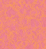 Seamless pattern with outlined irises Stock Photos