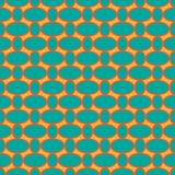 Seamless pattern with oval shapes Stock Photography