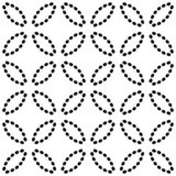 Seamless pattern with ovals of dotted lines. Vector background in black and white stock illustration