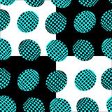 Seamless pattern of ovals point in blue and black color Stock Image
