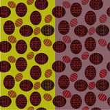 Seamless pattern of ovals with red and orange patterns Royalty Free Stock Photos
