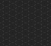 Seamless pattern of overlap black circles Royalty Free Stock Image