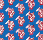 Seamless pattern of owl Royalty Free Stock Photography