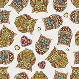 Seamless pattern with  owl Royalty Free Stock Image