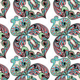 Seamless pattern. Owl doodle cartoon Royalty Free Stock Photography