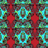 Seamless pattern. Owl doodle cartoon Stock Photography