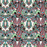 Seamless pattern. Owl doodle cartoon Royalty Free Stock Images