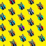 Seamless pattern of owl stock image