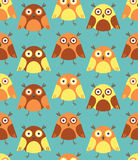Seamless pattern with owls. Royalty Free Stock Photos