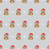 Seamless pattern - owls Stock Images