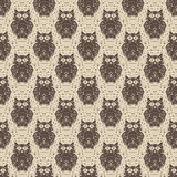 Seamless pattern with owls. Royalty Free Stock Photo