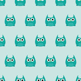 Seamless pattern - owls Royalty Free Stock Photo