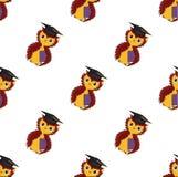 Seamless pattern. Owls. Vector. stock illustration