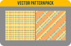 Seamless pattern pack Stock Photography