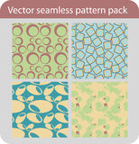Seamless pattern pack Stock Images