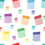Seamless pattern from packages for purchases Stock Photography