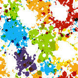 Seamless pattern with paint blobs Stock Photography