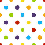 Seamless pattern with paint blobs Royalty Free Stock Images