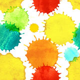 Seamless pattern with paint splash drops Stock Image