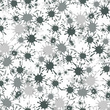 Seamless pattern with paint spots ink splashes Royalty Free Stock Images
