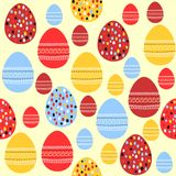 Seamless pattern with painted easter eggs Royalty Free Stock Image