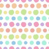 Seamless pattern with painted polka dot texture Royalty Free Stock Photography