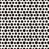 Seamless pattern with painted polka dot texture Royalty Free Stock Photos