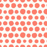 Seamless pattern with painted polka dot texture Stock Photo