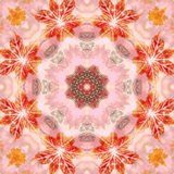 Seamless pattern with paintings leaves Stock Image