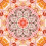 Seamless pattern with paintings leaves Royalty Free Stock Images